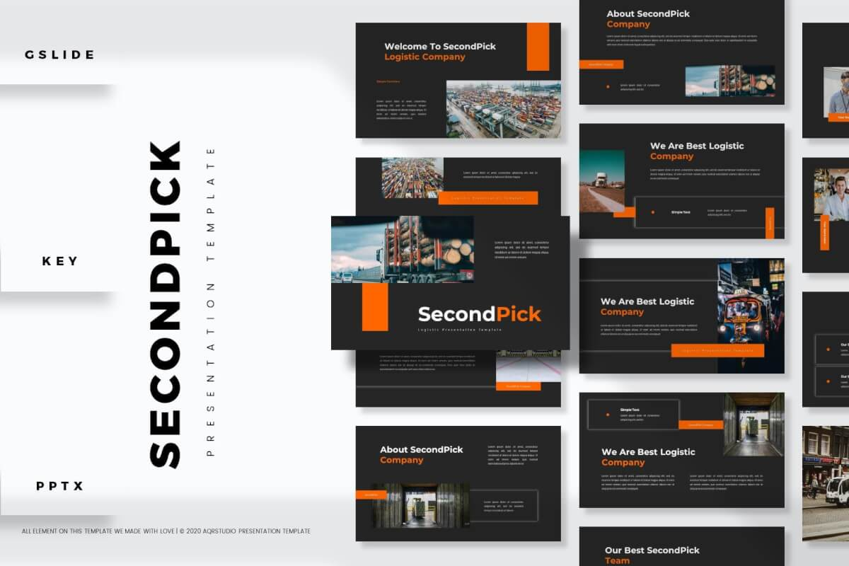 SecondPick-大气欧美商务工作计划工作总结PPT模板
