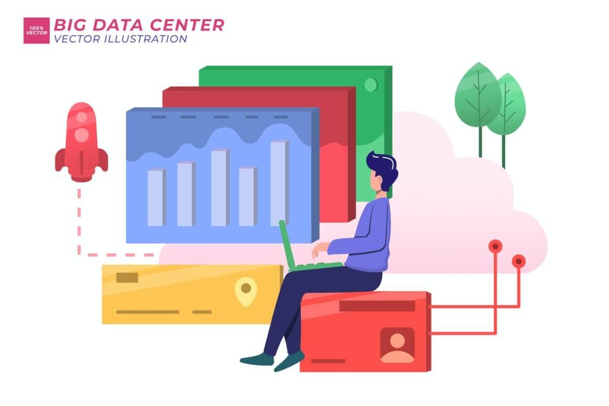 大数据中心平面插图
