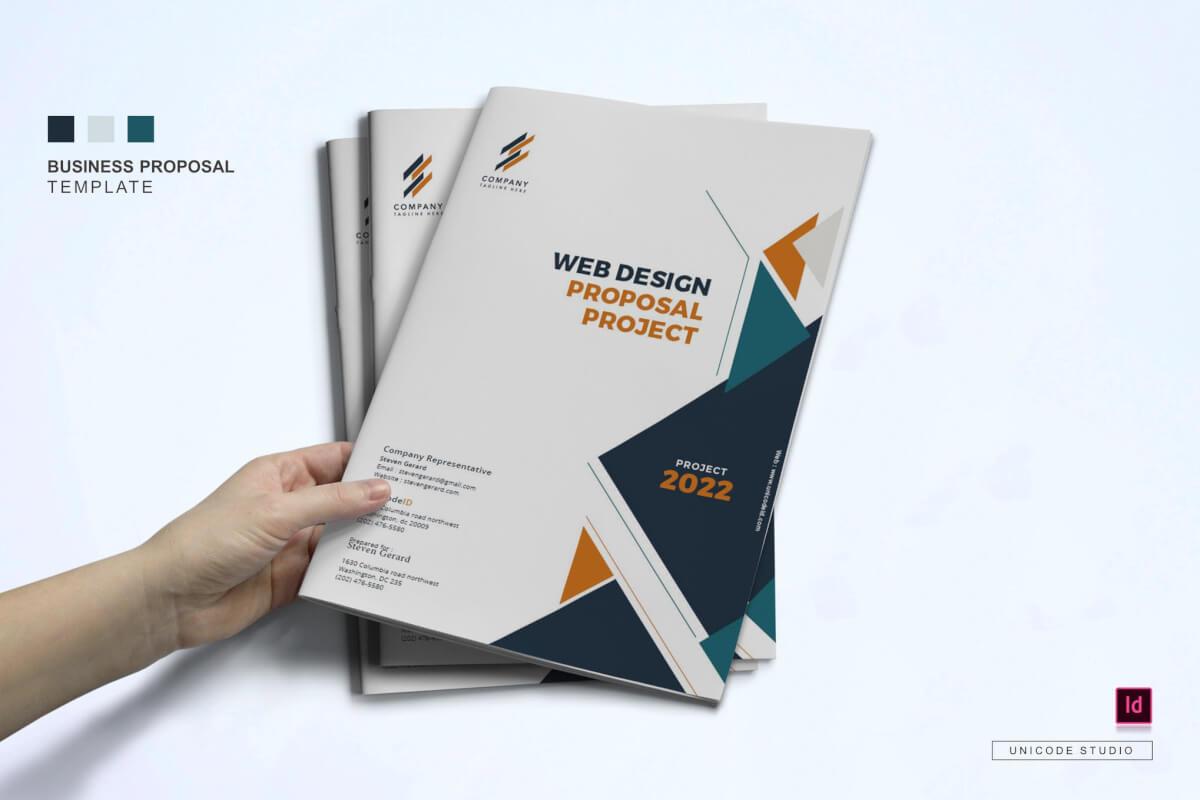 简洁大气商务企业画册封面设计模板