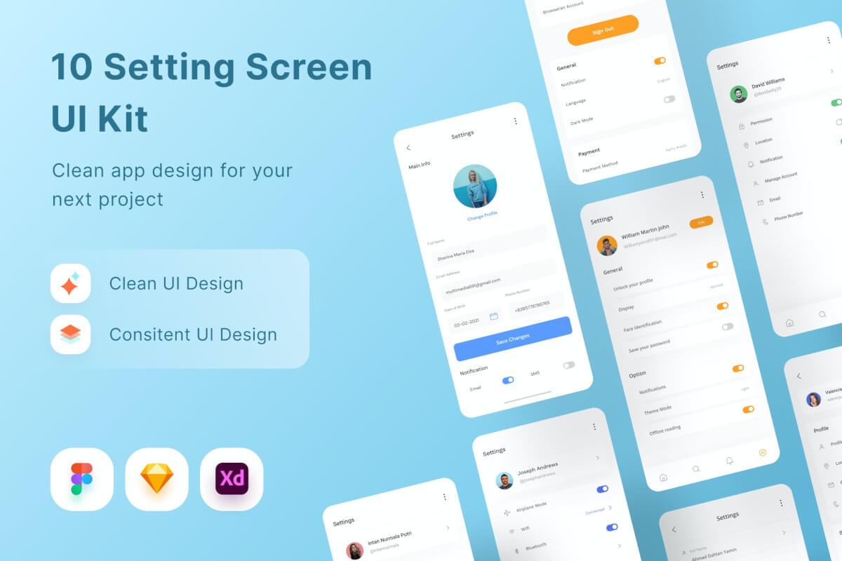 10 设置屏幕ui设计组件模板