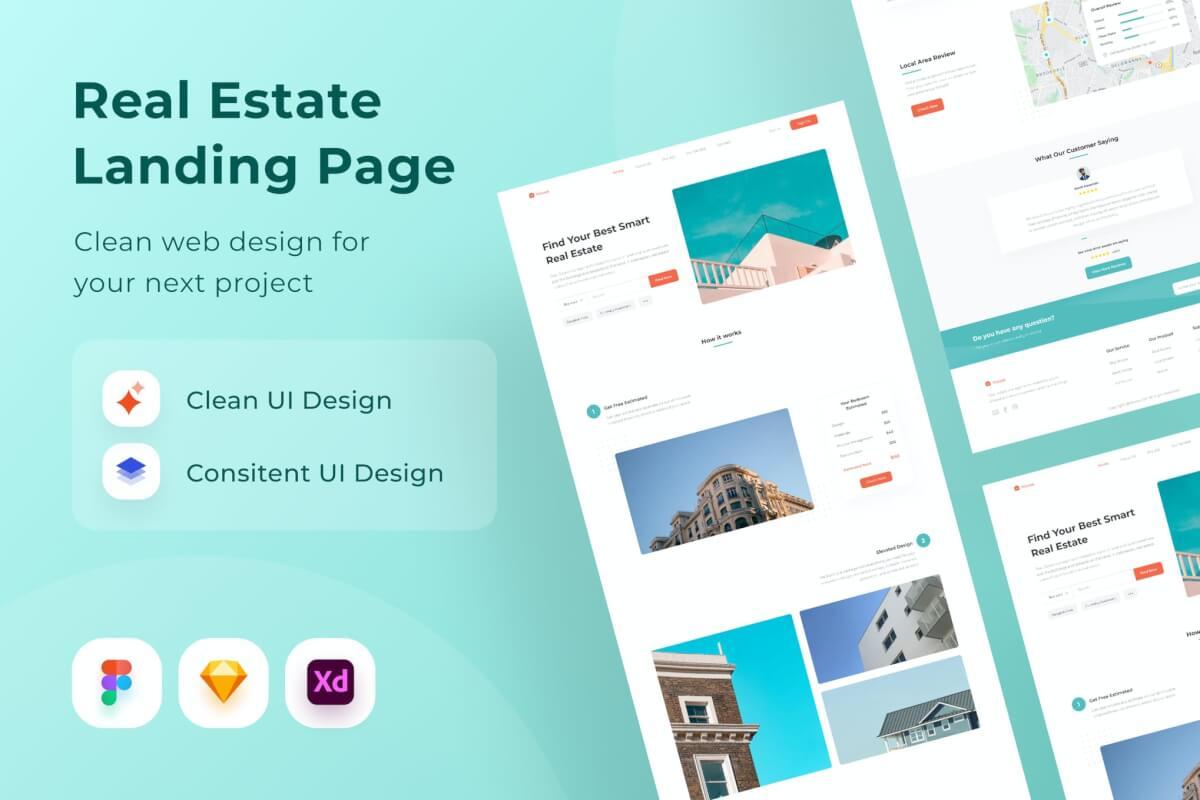 房地产登陆页面网站设计模板