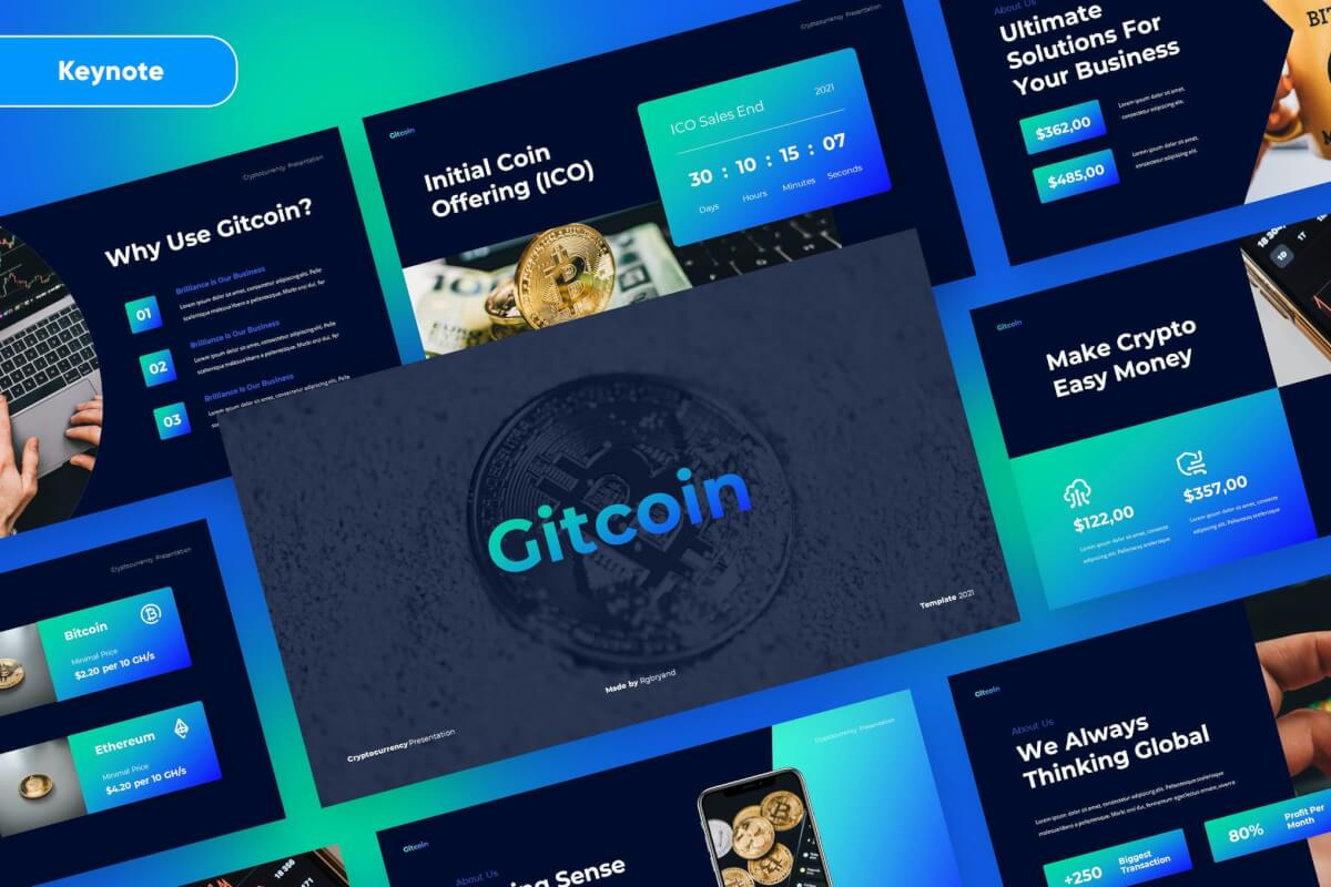 GITCOIN-加密货币主题演讲Keynote模板