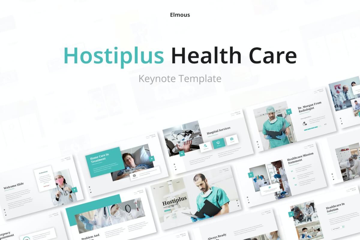 Hostiplus-医院和医疗保健主题演讲Keynote模板