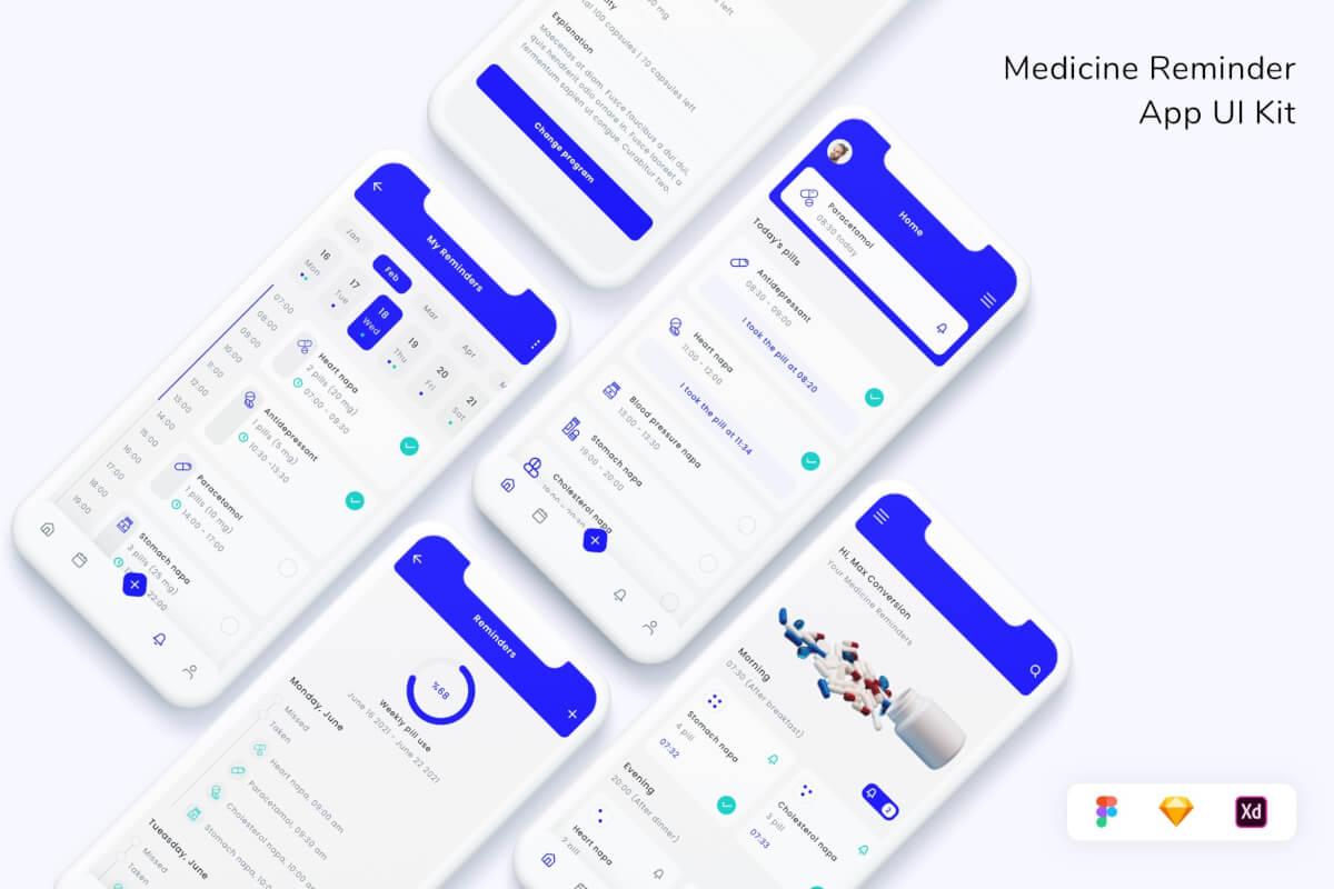 药物提醒应用程序 UI 套件