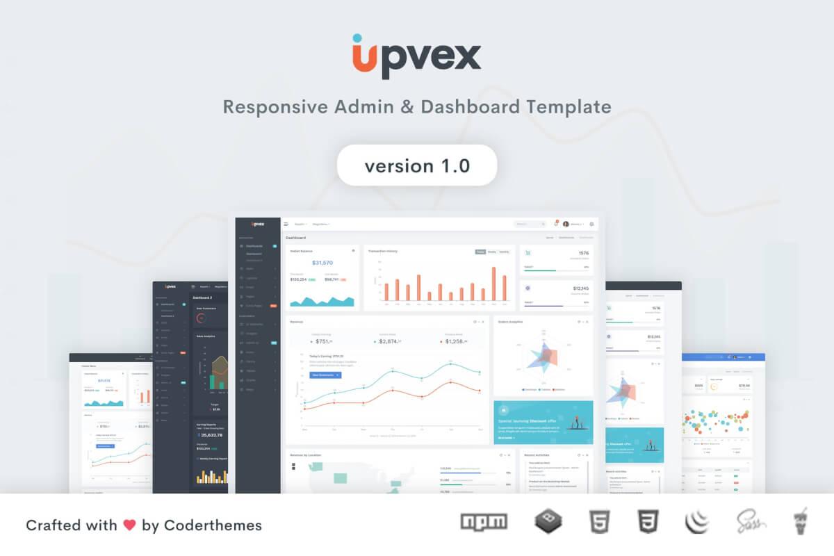 Upvex-管理和仪表板后台管理网站模板