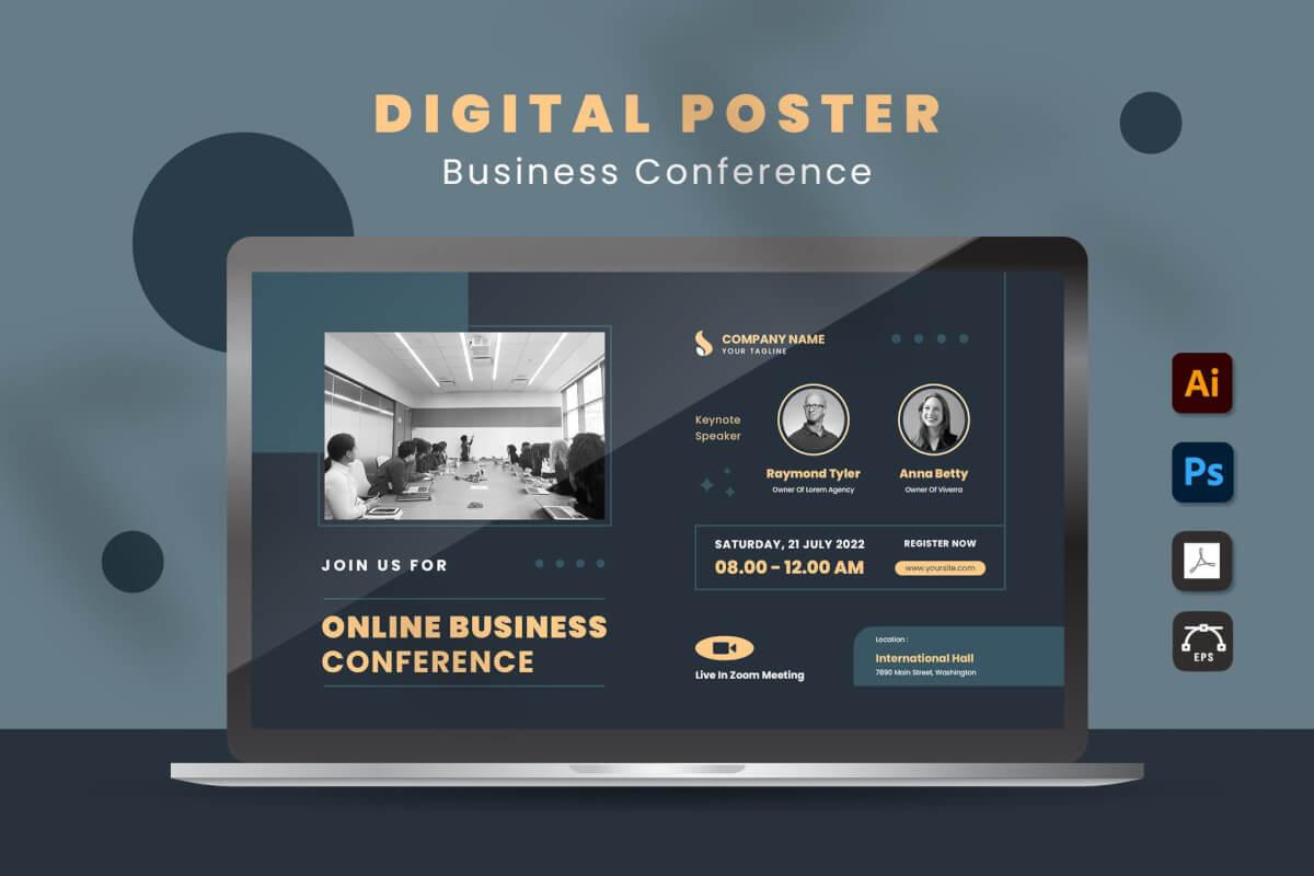商务会议数字海报