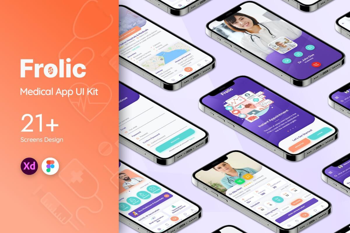 Frolic Medical 健康医疗 app UI 套件